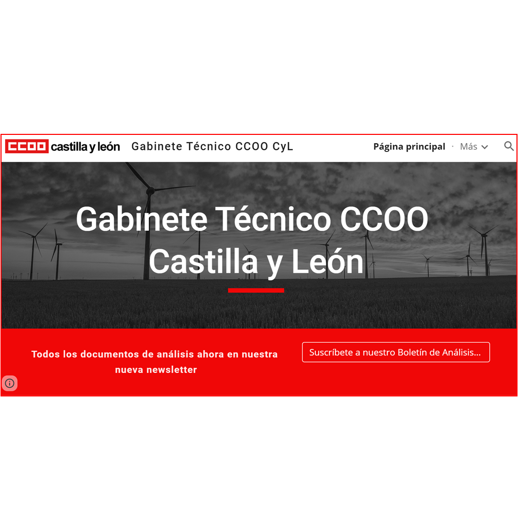 Nueva web del Gabinete Técnico de CCOO de Castilla y León