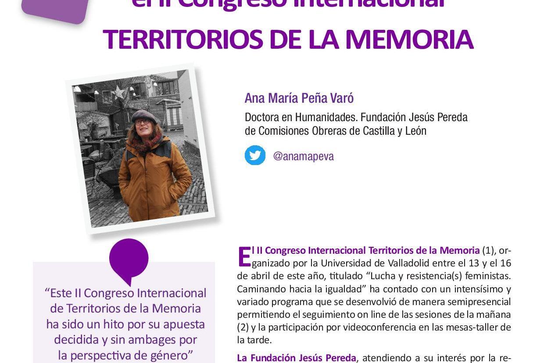 Fuentes y metodología para el estudio de las mujeres en el II Congreso Internacional Territorios de la Memoria