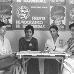 Mujeres apoyando al Frente Democrático de Izquierdas